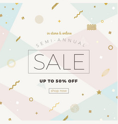 Sale banner on a abstract background vector