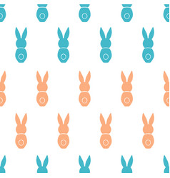 seamless pattern easter greeting with bunnies vector image