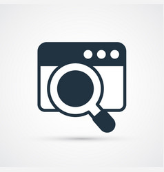 search window trendy symbol trendy vector image