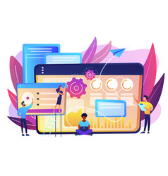 Seo analytics team concept vector