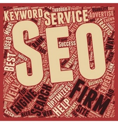 Seo firms help for businessmen s online text vector
