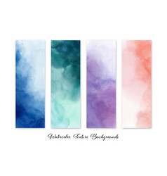 Set colorful abstract stain watercolor vector