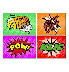 set of comic onomatopoeias vector image