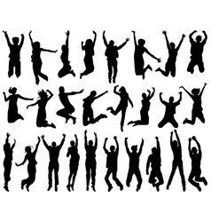 Silhouettes jumping vector