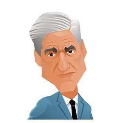 Special counsel robert mueller caricature vector