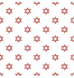 Star of david judaism pattern seamless vector