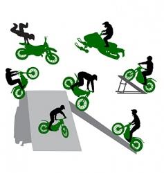 stunt man vector image