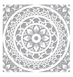 Traditional mandala design moroccan carved vector