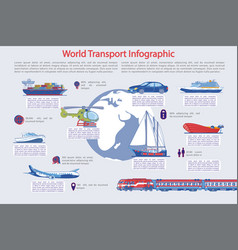 traveling and tourism transportation infographic vector image