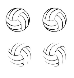 volleyball outline symbols vector image