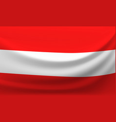 waving national flag of austria vector image
