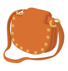 woman handbag icon cartoon style vector image