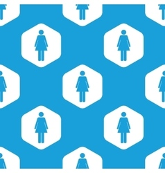Woman hexagon pattern vector image