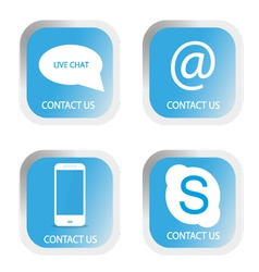 Contact us icons set vector image