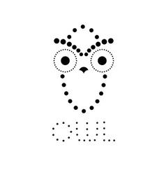 decorative owl design template vector image
