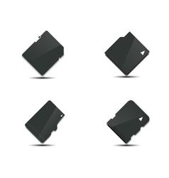 Set memory card vector image