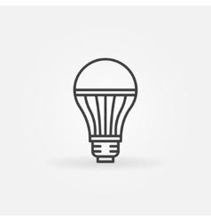 LED lightbulb icon vector image vector image