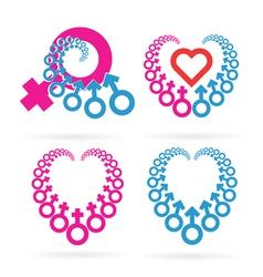 Male and Female Symbols Set vector image