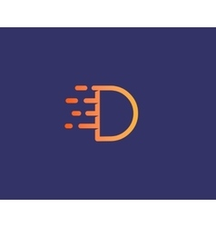 Abstract letter D logo design template Dynamic vector image vector image