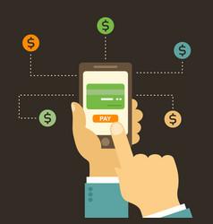 business online vector image vector image
