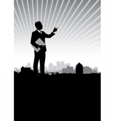 businessman cityscape vector image vector image