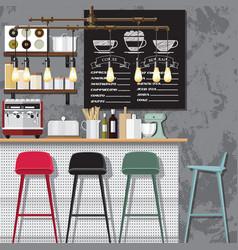 creative coffee shop vector image vector image