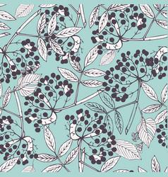 creeper berries seamless pattern vector image vector image
