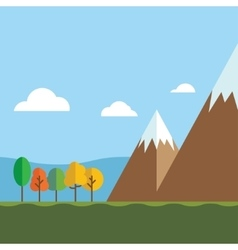 Mountain Ranges and Scenic Scenes vector image vector image