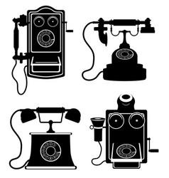 phone old retro vintage icon stock vector image vector image