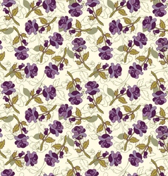 beautiful background with flowers vector image vector image