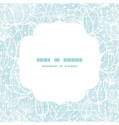 Blue lace flowers textile frame square pattern vector image