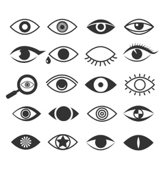 Eyes eye vision icons set vector image