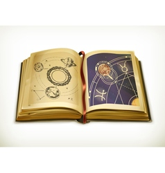 Old book astrology icon vector image vector image