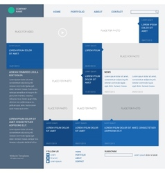 Template website built on the 16 column grid metro vector