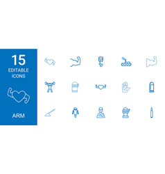 15 arm icons vector