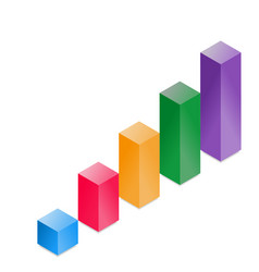 3d cube histogram vector image