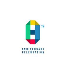 8 th anniversary celebration template design vector