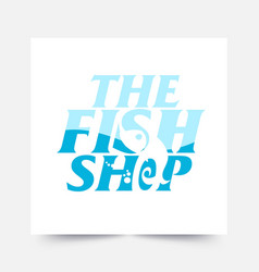 a cool and modern logo for a fishing company vector image