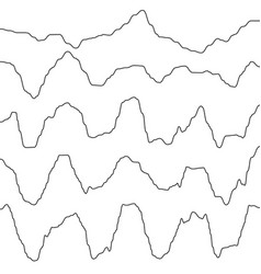 abstract monochrome waves oscillating object eps vector image
