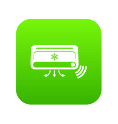air conditioning icon green vector image