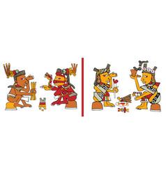 Ancient american ornaments vector
