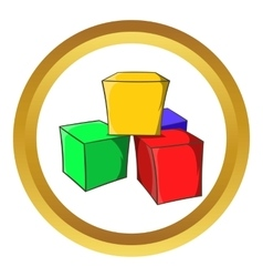 Baby cubes icon vector