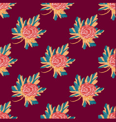 beautiful flowers seamless pattern for your design vector image