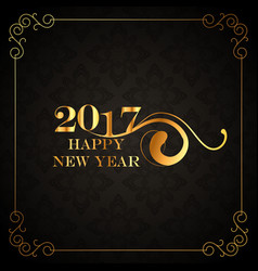 Beautiful vintage 2017 happy new year greeting vector