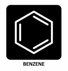benzene symbol vector image