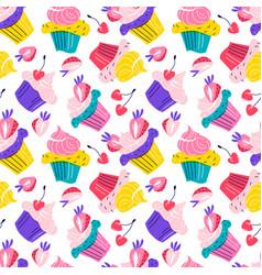 birthday party cupcake cake festive vector image