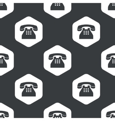 Black hexagon phone pattern vector
