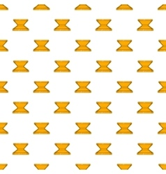 Box for pizza pattern cartoon style vector