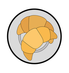 Bread wheat food vector