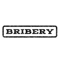 bribery watermark stamp vector image